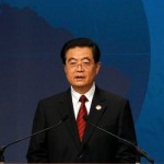 China's President Hu Jintao speaks at the APEC Summit in Yokohama