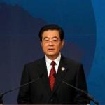 China's President Hu Jintao speaks at the APEC Summit in Yokohama